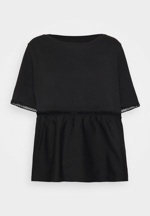 NMTERIA LOOSE TOP - Basic T-shirt - black