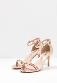 Dorothy Perkins - SLING PRETTY TRIM MID HEIGHT  - Sandaler med høye hæler - rose gold - 4