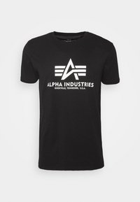 Alpha Industries - BASIC REFLECTIVE - Print T-shirt - black