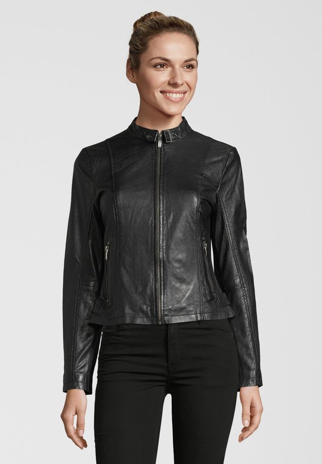 BE LIKED - Giacca di pelle - black