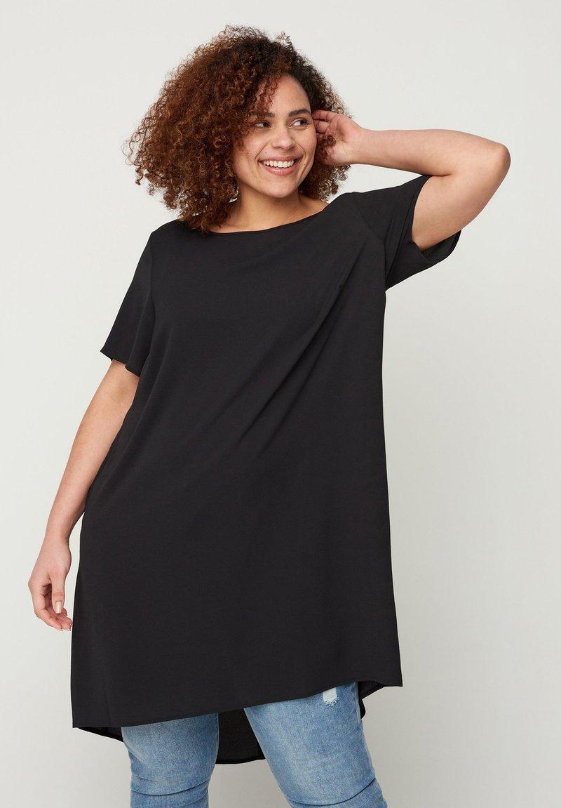 Zizzi - MIT KURZEN ÄRMELN - Day dress - black
