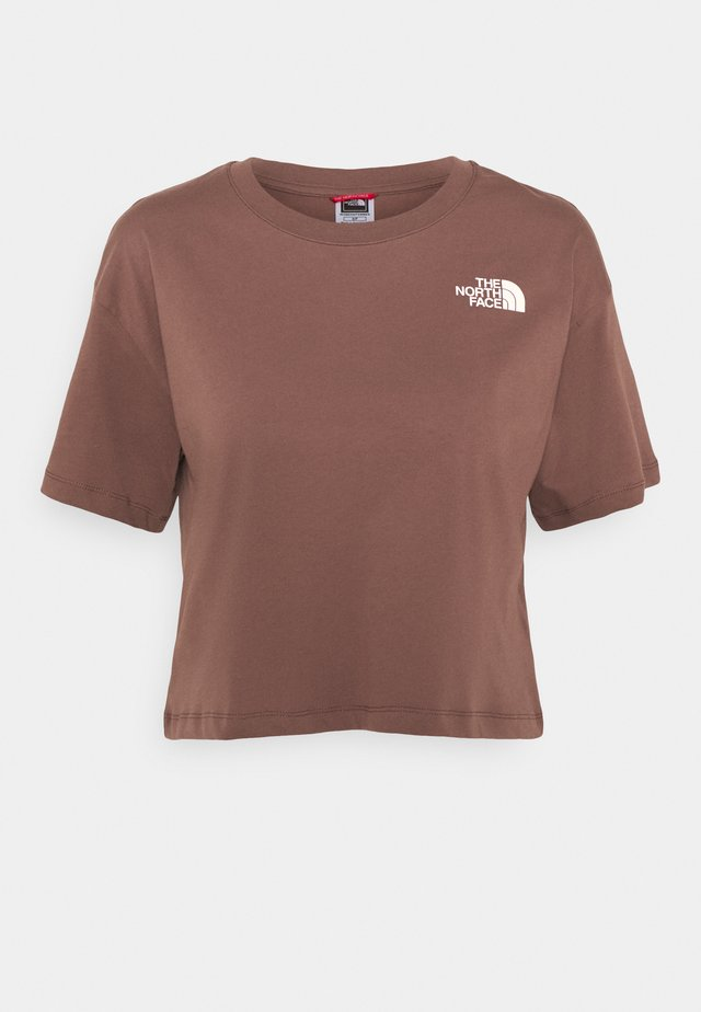 CROPPED SIMPLE DOME TEE - Print T-shirt - marron purple