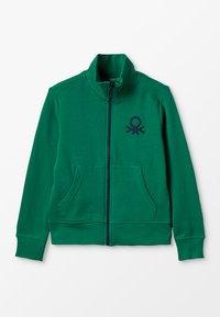 Benetton - Zip-up hoodie - green - 0