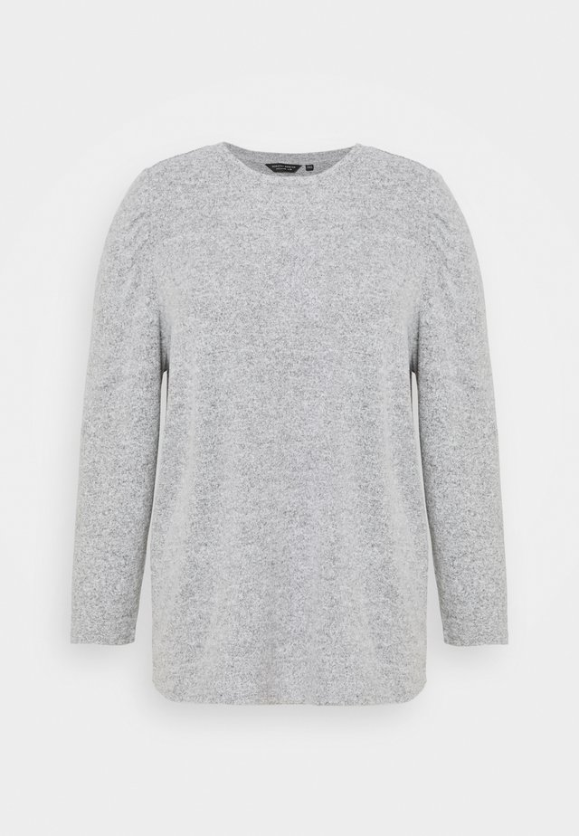 PUFF SLEEVE - Svetr - grey marl