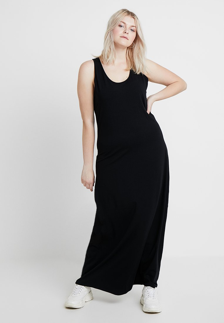 Urban Classics Curvy - LADIES LONG RACER BACK DRESS - Maxi šaty - black
