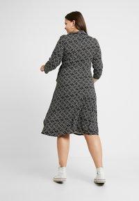 Dorothy Perkins Curve - OPEN COLLAR DRESS SPOT - Jersey dress - navy - 3