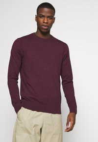 Burton Menswear London - FINE GAUGE CREW  - Maglione - burgundy - 3