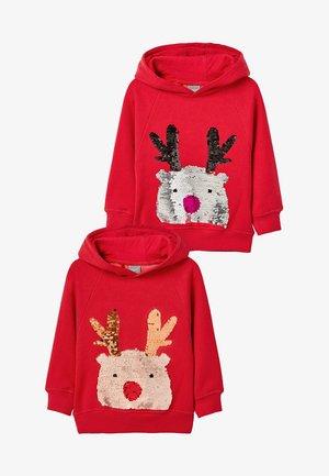 REINDEER CHRISTMAS  - Hoodie - red