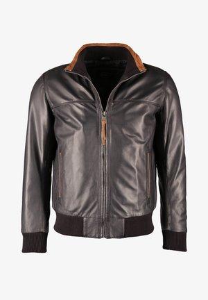 Leather jacket - blau