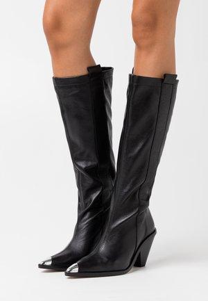 TULIP POINT KNEE - Høje støvler/ Støvler - black