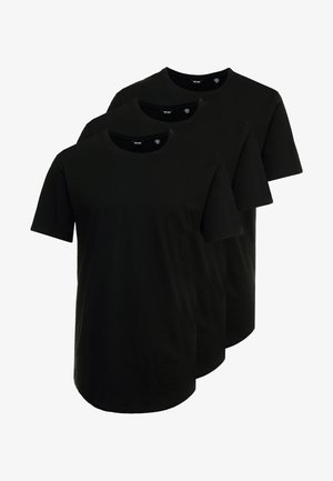 ONSMATT LONGY TEE 3 PACK - Basic T-shirt - black