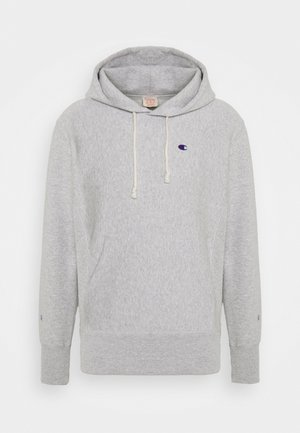 HOODED - Sudadera - mottled light grey