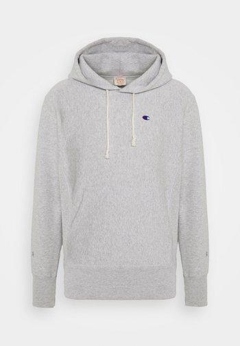 HOODED - Sweatshirt - mottled light grey