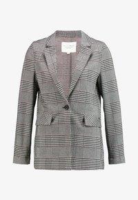 TOM TAILOR DENIM - GIRLFRIEND CHECK - Blazer - black/white/grey - 3