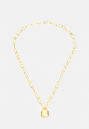 """LUXE PADLOCK CHARM NECKLACE 18"""" - Halsband - pale gold-coloured"""