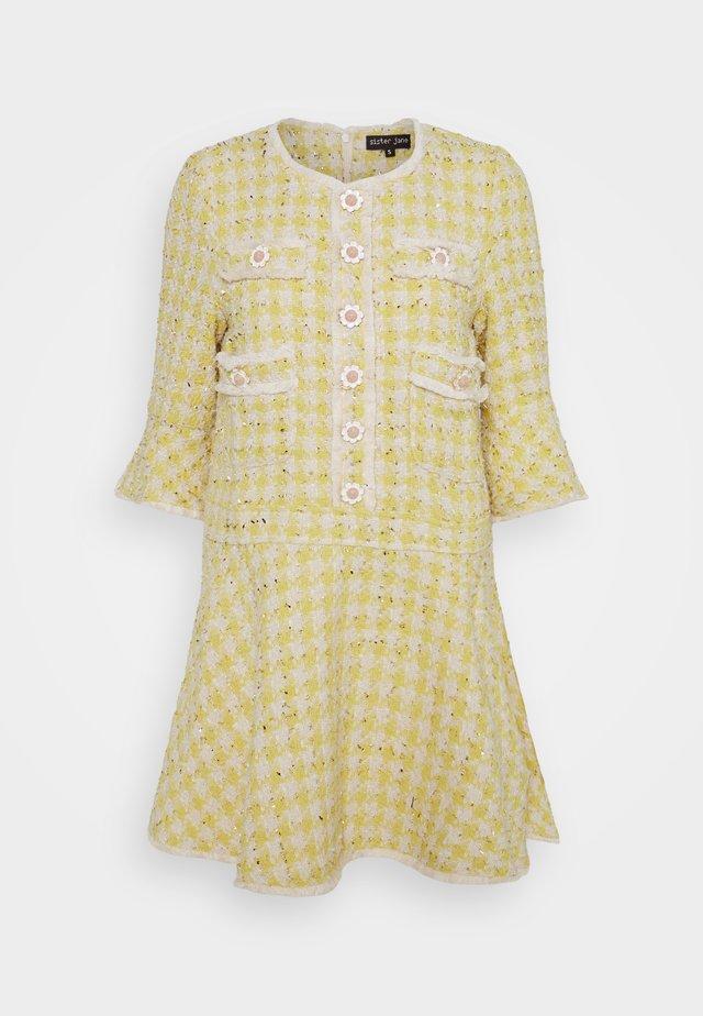HONEY BEE MINI DRESS - Vestido camisero - yellow