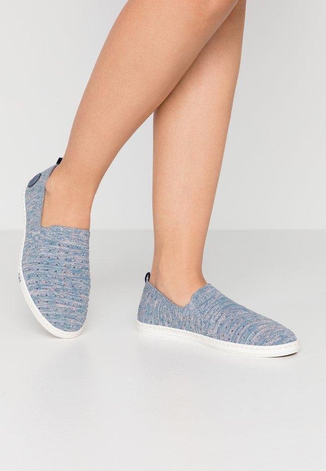Slip-ons - blue/rose/jeans