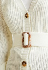 Missguided Tall - BELTED BUCKLE BALLOON SLEEVE CARDIGAN - Cardigan - cream - 6