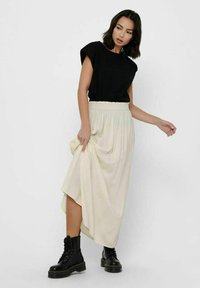 ONLY - Pleated skirt - ecru - 1