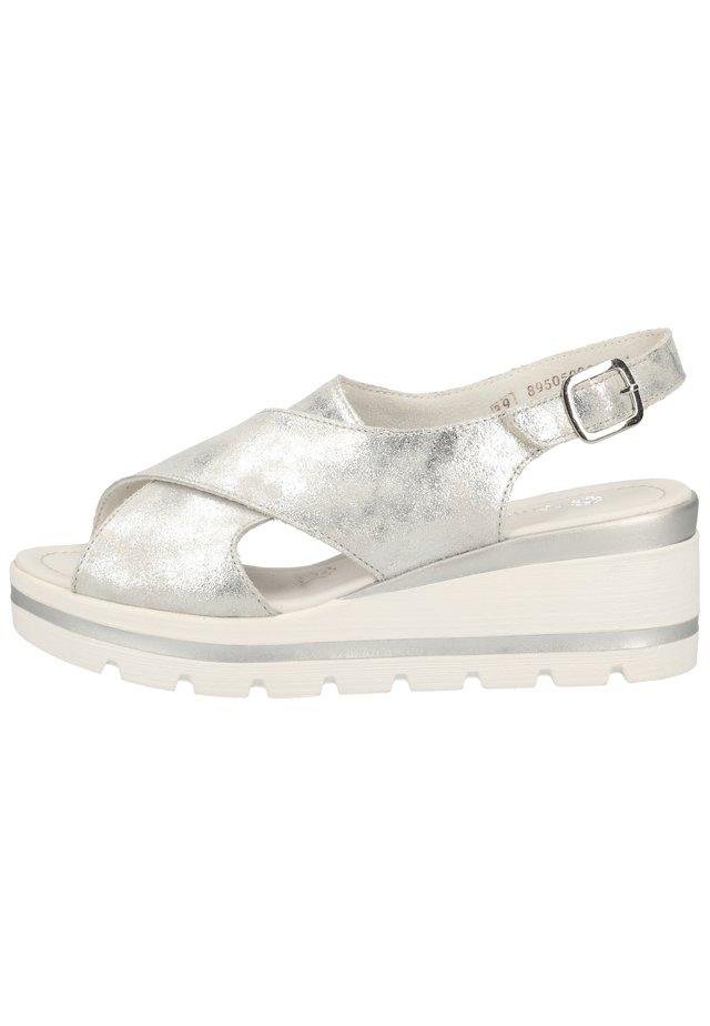 Sandales compensées - silver 90