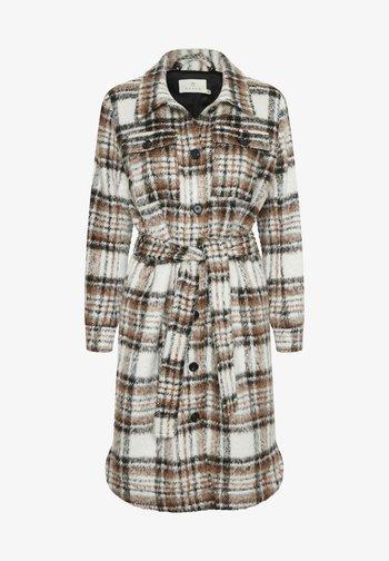 Classic coat - chalk / russet / black check