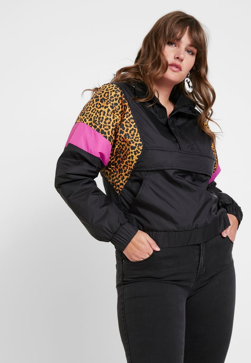 Urban Classics - LADIES MIXED PULL OVER JACKET - Overgangsjakker - black