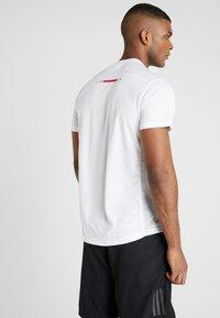 adidas Performance - OWN THE RUN TEE - Print T-shirt - white - 2