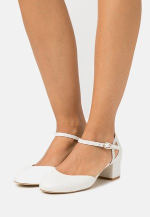 LEATHER - Klassiske pumps - white