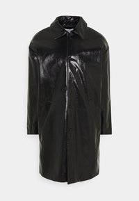 DARYL PATENT COAT UNISEX - Mantel - black