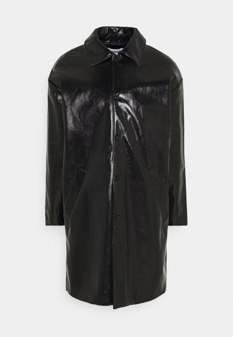 Weekday - DARYL PATENT COAT UNISEX - Wollmantel/klassischer Mantel - black