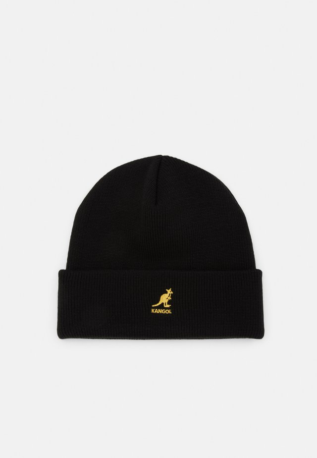CUFF PULL ON UNISEX - Beanie - black/ gold
