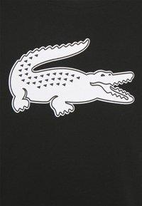 Lacoste Sport - BIG LOGO - T-shirt con stampa - black/white - 2