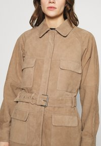 Deadwood - SAHARA JACKET - Leather jacket - sand - 5