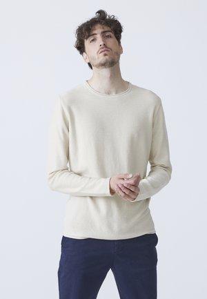 ALVIN - Stickad tröja - sand