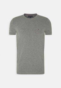 STRETCH SLIM FIT TEE - Basic T-shirt - grey