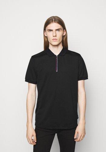 MENS ZIP  - Polo shirt - black