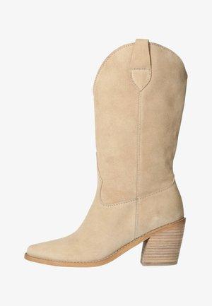 MIT HOHEM ABSATZ - Laarzen met hoge hak - beige