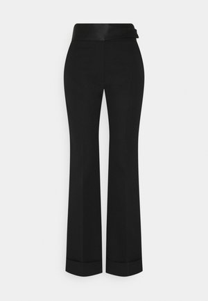STRAIGHT LEG TUXEDO TROUSER - Trousers - black