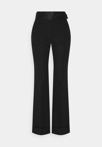STRAIGHT LEG TUXEDO TROUSER - Trousers - black