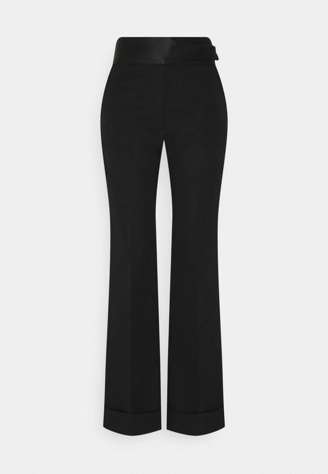 STRAIGHT LEG TUXEDO TROUSER - Pantalon classique - black