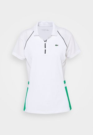 TENNIS  - Poloshirt - white/palm green/navy blue