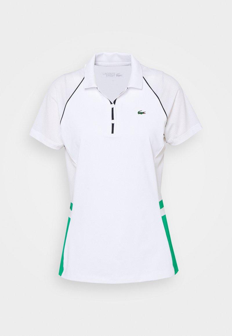 Lacoste Sport - TENNIS  - Polo shirt - white/palm green/navy blue