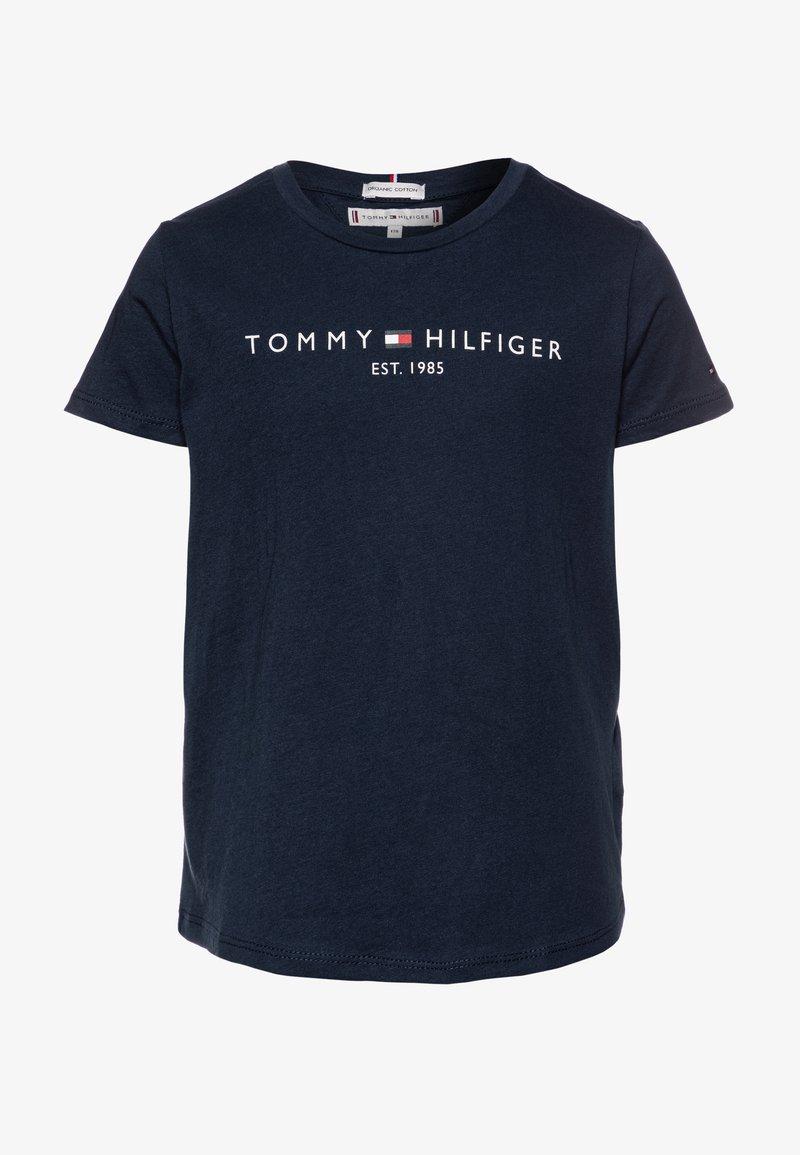 Tommy Hilfiger - ESSENTIAL TEE  - Triko spotiskem - blue