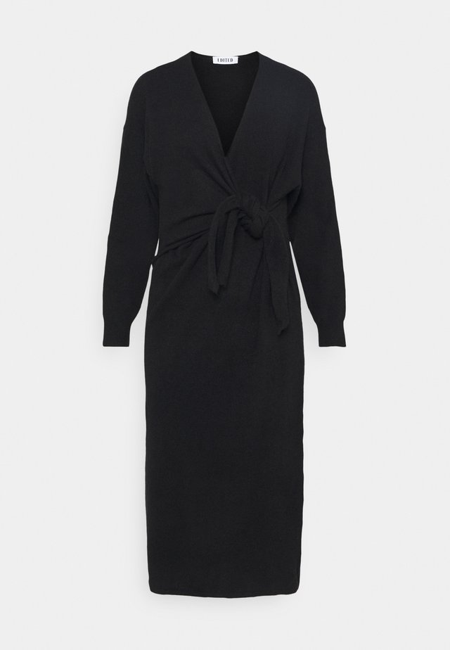 LENA DRESS - Strikkjoler - schwarz