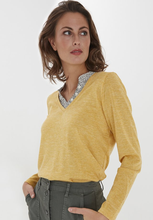 Sweter - ochre melange