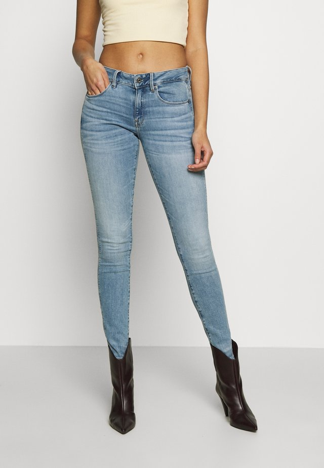3301 MID SKINNY - Jeans Skinny Fit - light blue denim