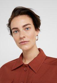 Maria Black - RUBY HOOP EARRING - Náušnice - silver - 1