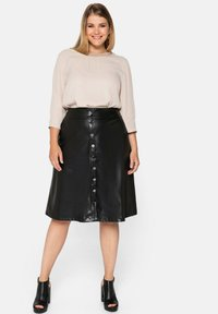 Sheego - A-line skirt - schwarz - 1