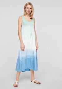s.Oliver - Jerseyjurk - turquoise tie dye - 1