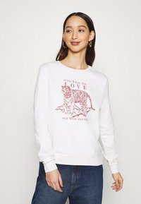ONLY - ONLZELINA LIFE TIGER BOX - Sweatshirt - cloud dancer - 0